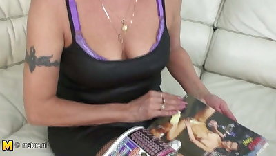 Dirty grandmother playing with herself