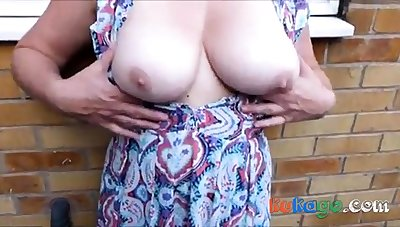 Cum on censorious nylons outdoor up breasts - as requested