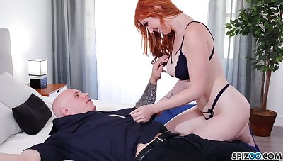 Eye catching redhead Lauren Phillips is so into riding sloppy load of shit