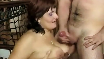 Russian mature Mom and say no to boy! Amateur!