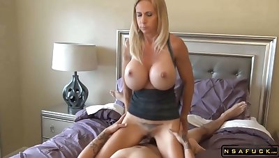 Big tits blonde milf fucked wide of lucky dude