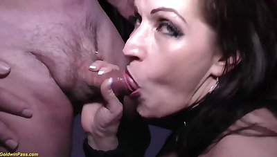 Crazy german MILF tries her sly new rough double anal at our weekly swinger party orgy