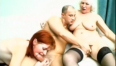 Two horny matures absence to share valorous and fat friend's penis