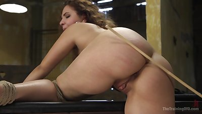 Talented rope bondage keeps Callie Klein to place not later than BDSM fucking