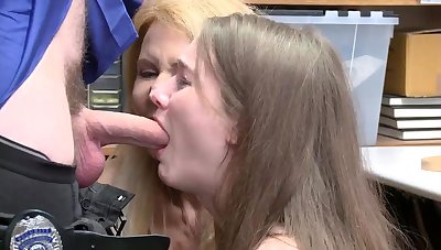 Teen brunette office and old man spanks friend' playmate's