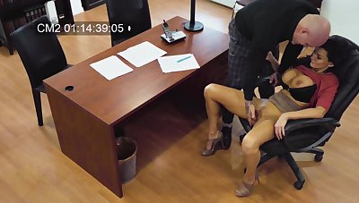 Becky Bandini's rough office be thrilled by caught on hidden camera