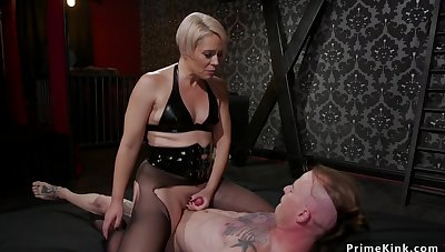 Blondie Housewife mistress whips starring role slave