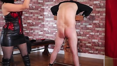 Femdom Tied Related Extreme Ballbusting and Whipping Torture PART1