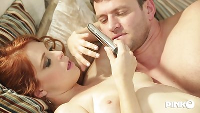 Red haired slut, Penny Pax is fucking her pre-empt friend's boyfriend, every once in a while