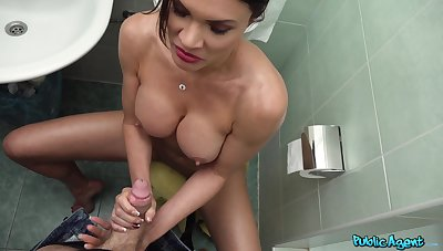 Mature pornstar Kitana Lure takes a shower and gets penetrated