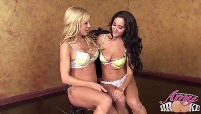 Ava Adams and Amy Brooke decided to make love just about each other, all night long